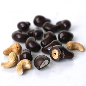 dark chocolate cashews with sea salt