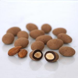 truffle almonds with cocoa and dark chocolate