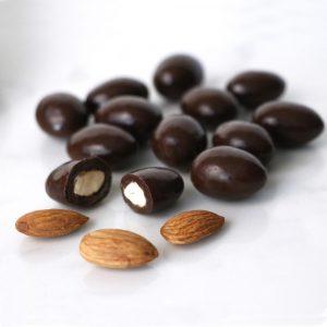 sugar free dark chocolate almonds