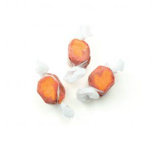 mango taffy salt water taffy orange and red candy