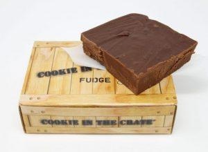 deep dark chocolate fudge crate