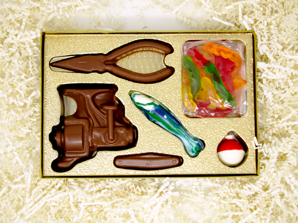 tackle box chocolate and candy gift set