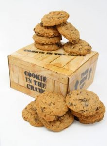 dozen oatmeal raisin cookies cookie in the crate