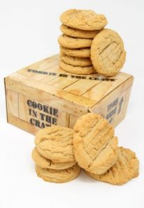 peanut butter cookie in the crate