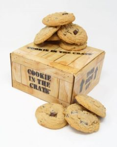 chocolate chip cookies cookie in the crate gift box