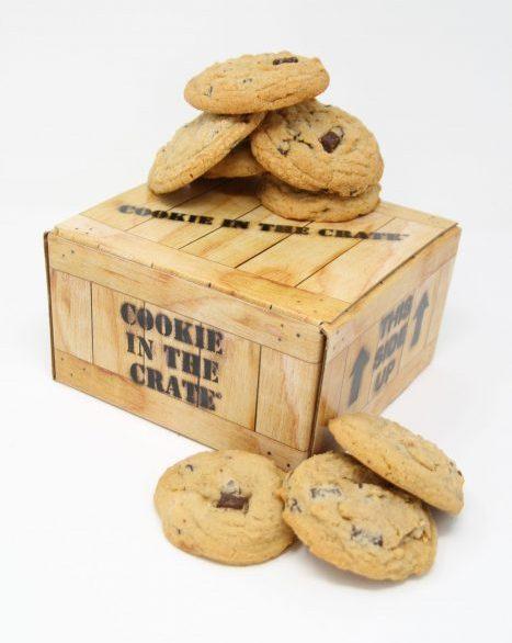 chocolate chunk cookies crate