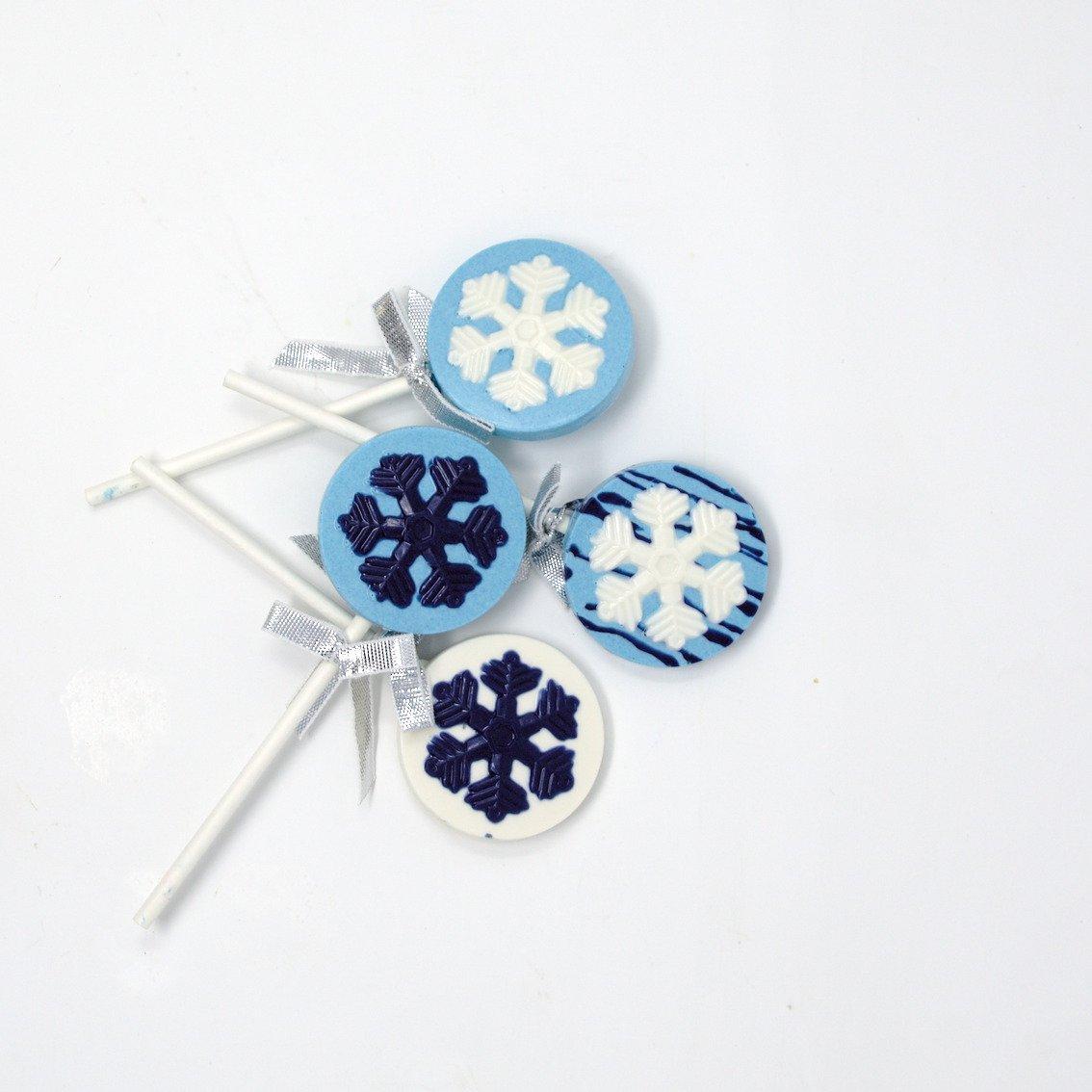 snowflake lollipops