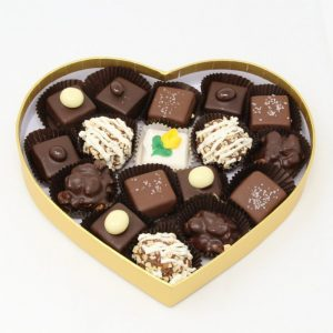 valentines day originals in a heart box