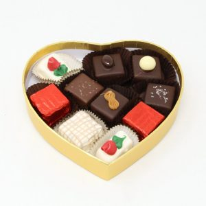 originals in small gold heart box -open