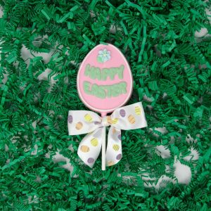 Happy Easter Egg chocolate Lollipop