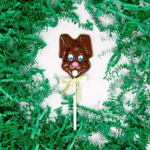 milk chocolate easter rabbit lollipop