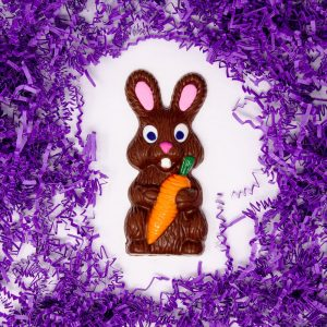 solid milk chocolate easter rabbit
