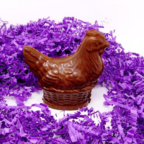 mother hen chocolate sculpture
