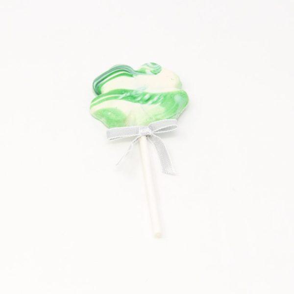 white chocolate four leaf clover lollipop