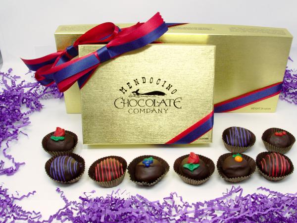 mother's day dark chocolate truffle assortment gift box
