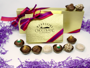 milk chocolate truffle assortment in gift box