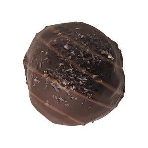 sugar free dark chocolate truffle in bittersweet flavor
