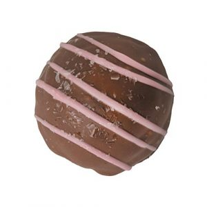 sugar free raspberry dark chocolate truffle